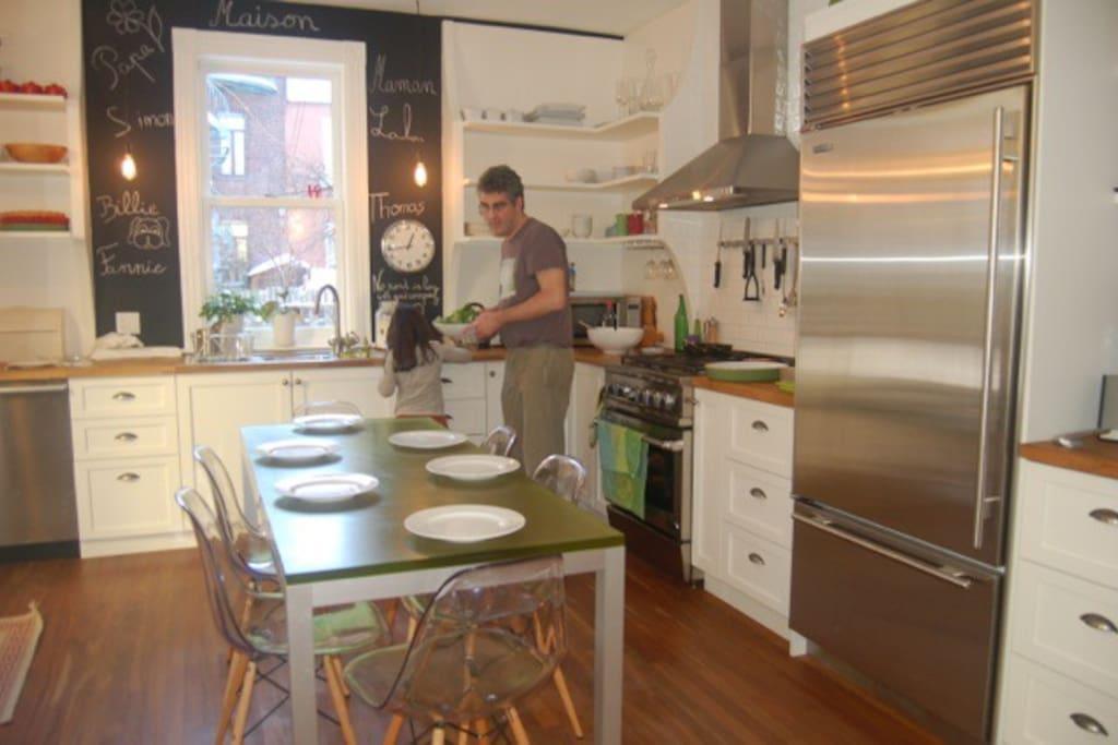 La cuisine-salle à manger