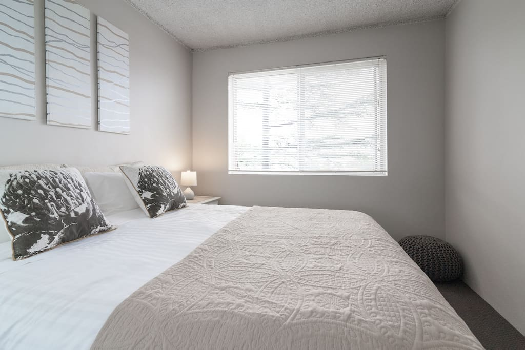 Master bedroom with sunny aspect