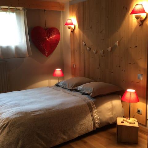 Chambre dans chalet, passion, petits déj inclus