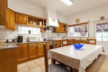 Kitchen - there's a coffee machine, oven, microwave and plenty of space for you to eat