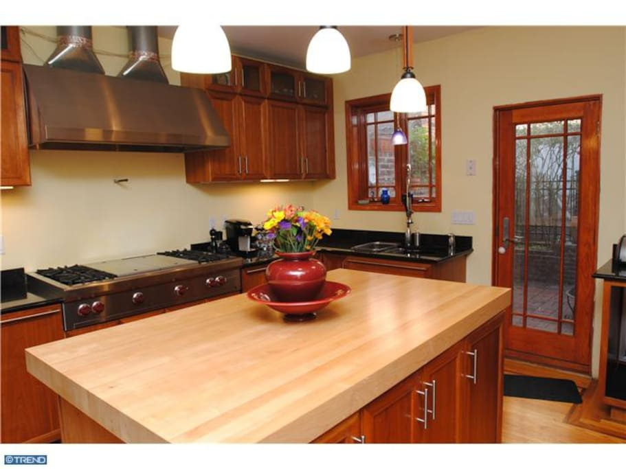 Modern kitchen with all the appliances and amenities