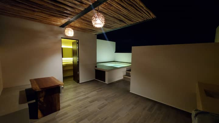 Romantic Jungle1BR PH Private Rooftop Pool WiFi AC
