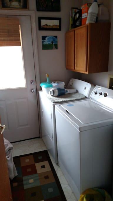 laundry room ,back door