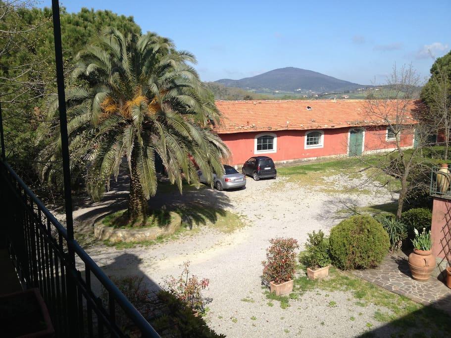 Vista dall'ingresso dell'appartamento