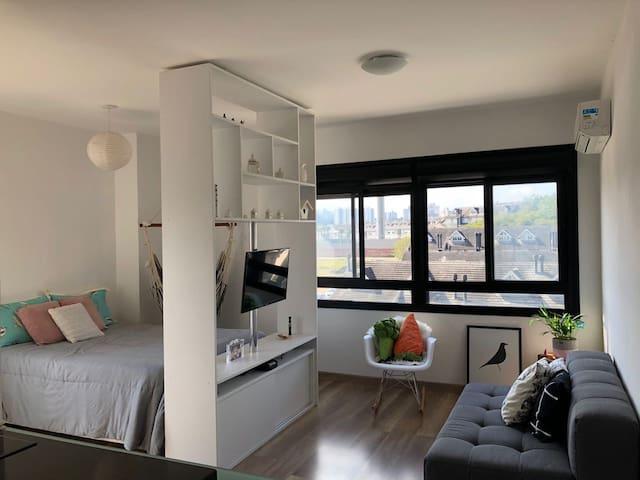 Loft lindo e mobiliado edifício Nine!