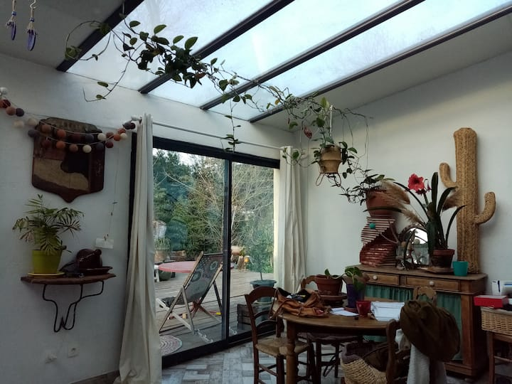 maison atypique jardin