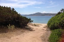 just following the way walking