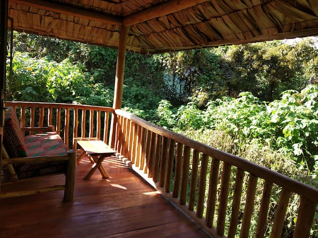 Buhoma Gorilla Camp mid range cottages at Bwindi