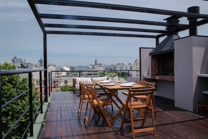 Departamento en PALERMO con terraza de uso privado