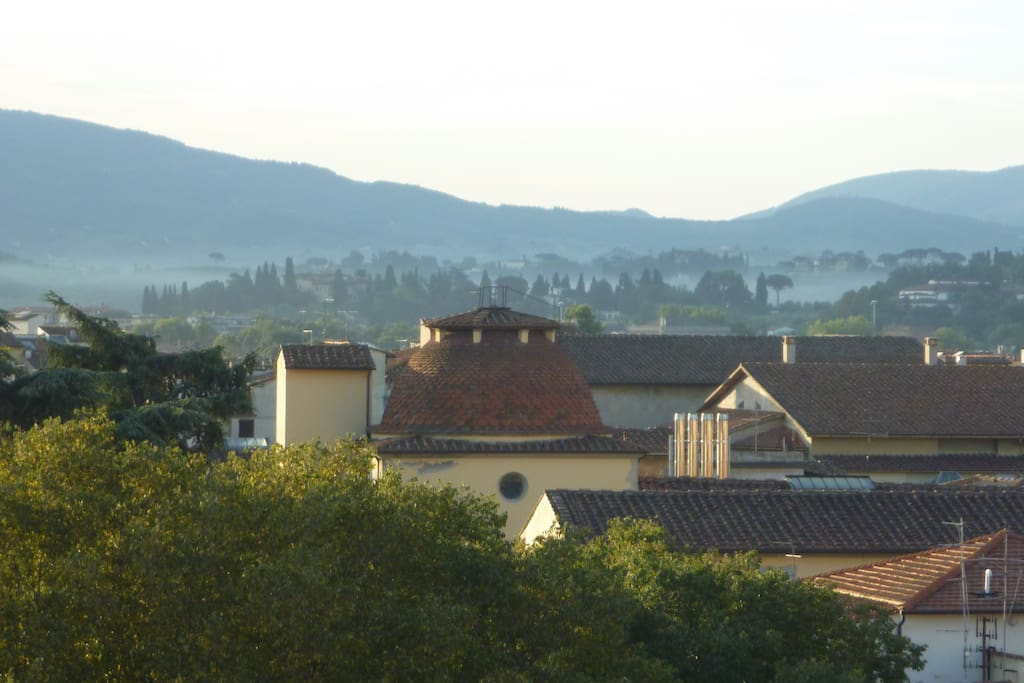 Hills' view from the terrace