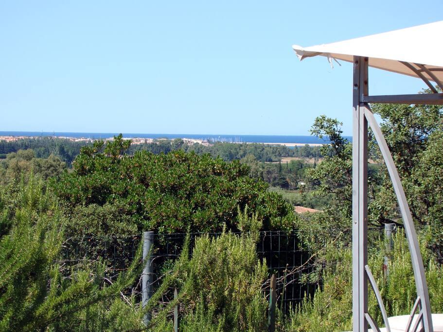 Blick zum Hafen von La Caletta