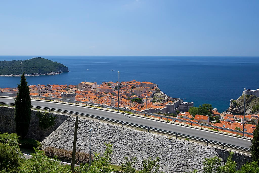 View from the balcony of the Old Town and Adriatic Sea