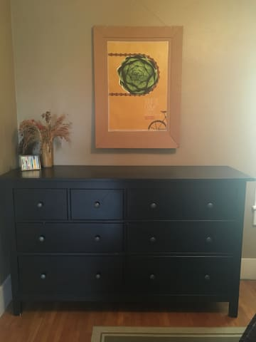 Ample dresser space in your room.