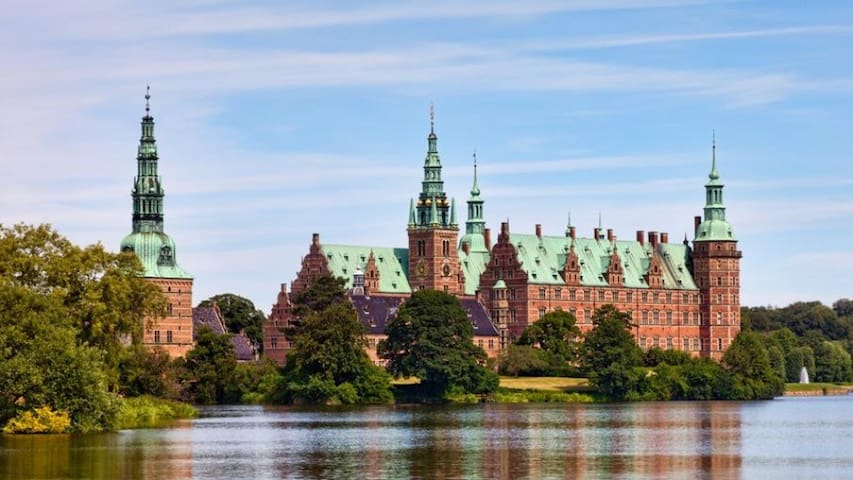 City house close to Frederiksborg castle + S-train