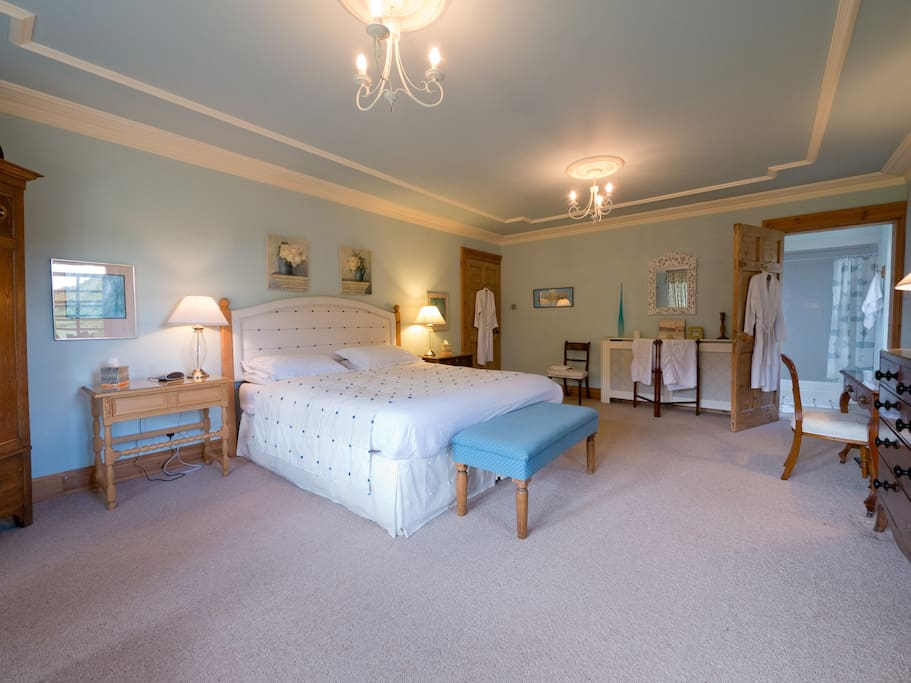 The Blue Room, a beautiful and huge bedroom with en suite shower