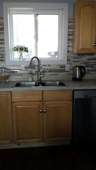 bright and updated kitchen with dishwasher...