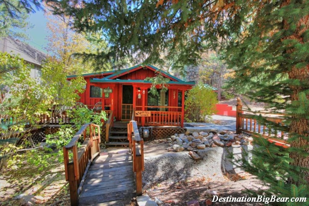 Moose creek manor nearvillage spa cabins for rent in Big bear cabins california