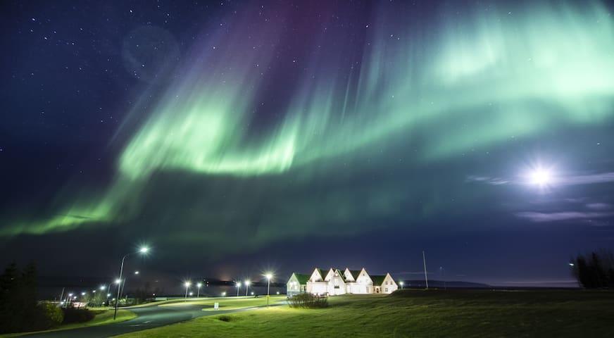 Northern Lights over our village