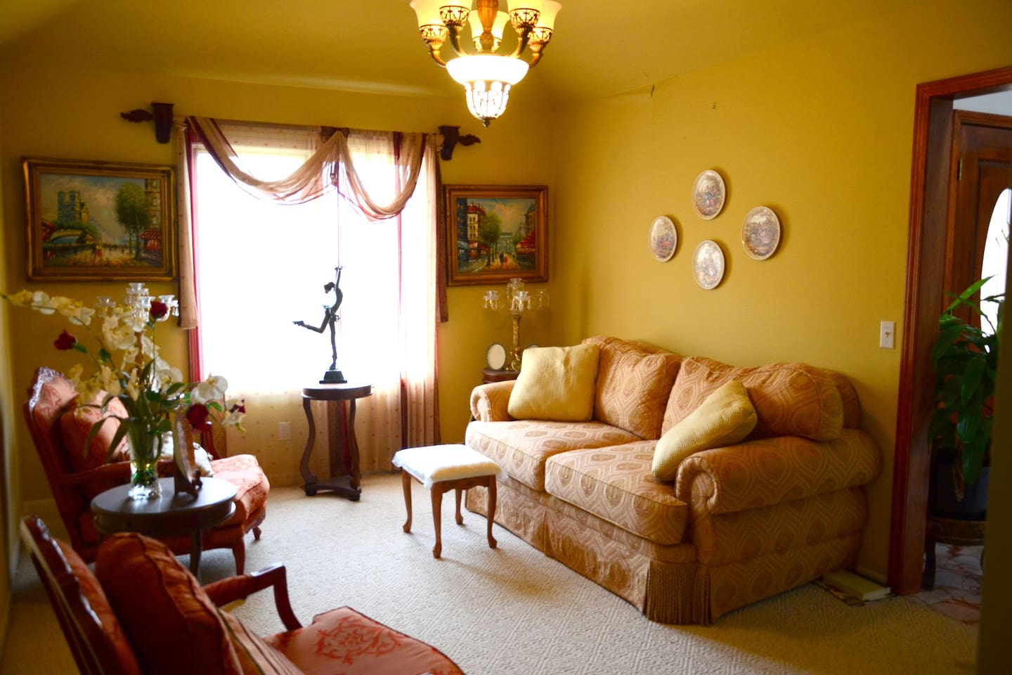 Guests are welcome to use this living room.