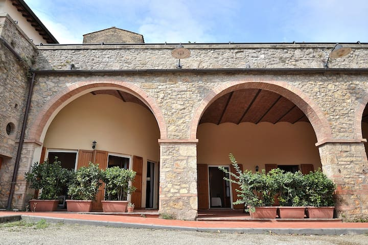 Your apartment inside of the walls of an ancient medieval Fortress in the Chianti area between Florence & Siena