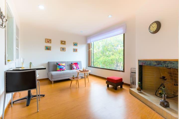 close to 93 park Amazing flat Lovely view - Bogotá - Condominium