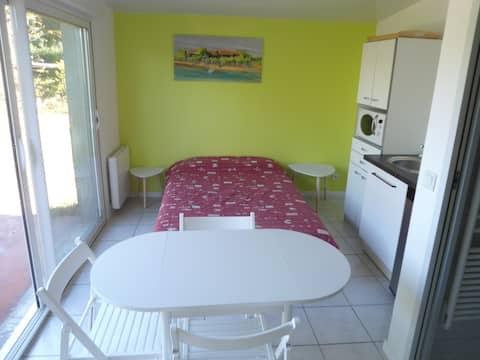 Chambres 2 personnes avec terrasse.