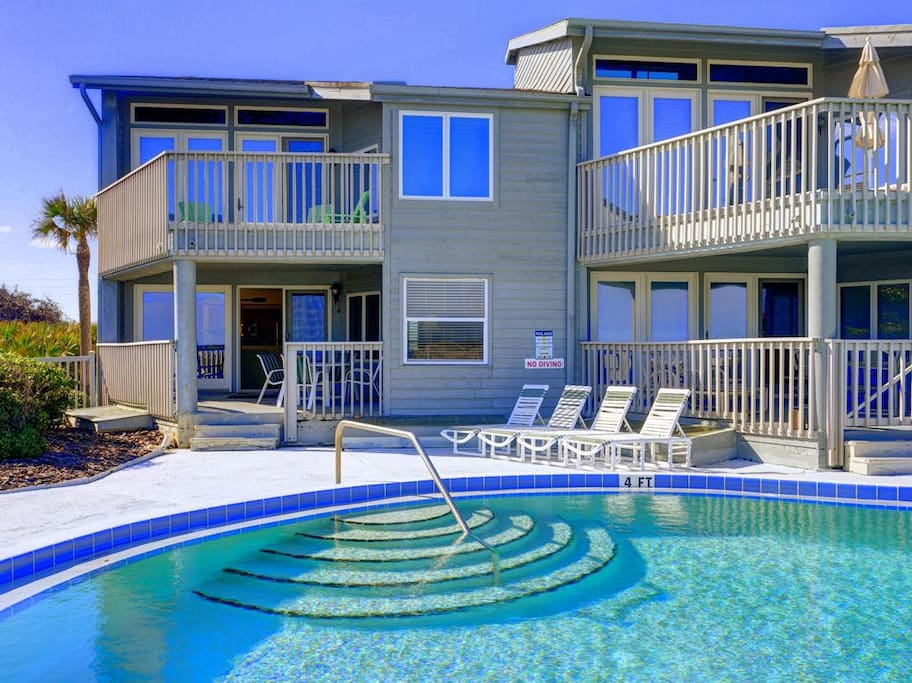 Only 8 condos share this pool! - You can walk straight from our patio to the pool...or just walk down the boardwalk directly to t