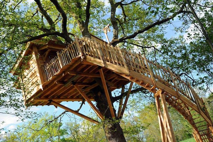 La Cabane du Vieux Chêne  Navarrenx - Susmiou - Casa na árvore