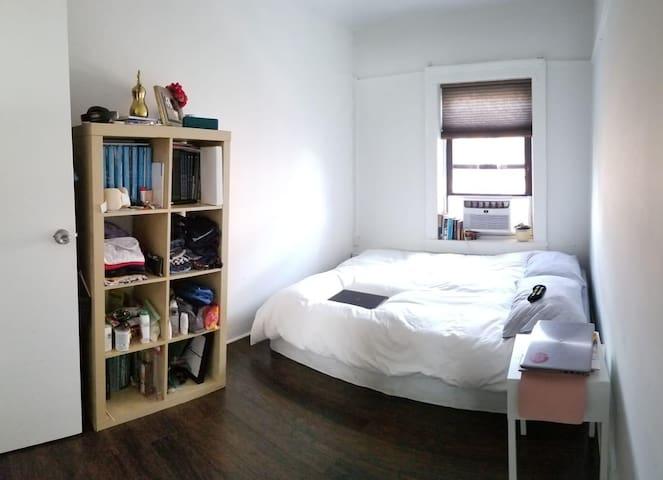 Williamsburg Bedford av. Comfy bedroom.
