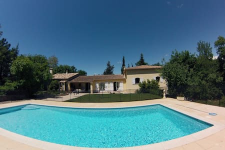 Spacious villa with pool and garden - Saint-Paul-en-Forêt - Haus