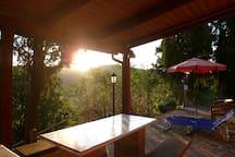 Il sole poco prima di calare con quella luce speciale.....