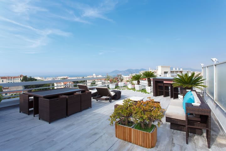 CANNES LUXURY&SPA SEA VIEW , 148m2+100 terrace