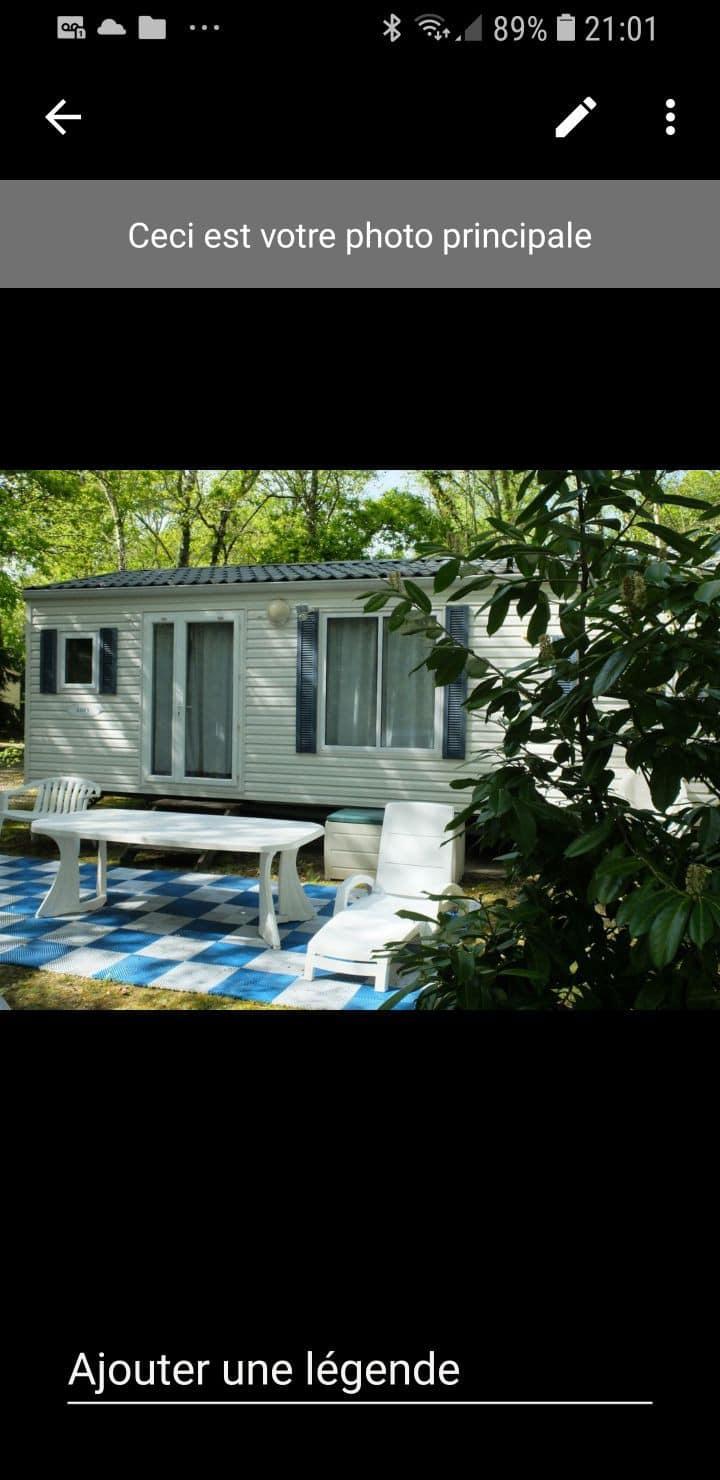 Mobil home  camping 4¤  juillet août 490€/semaine