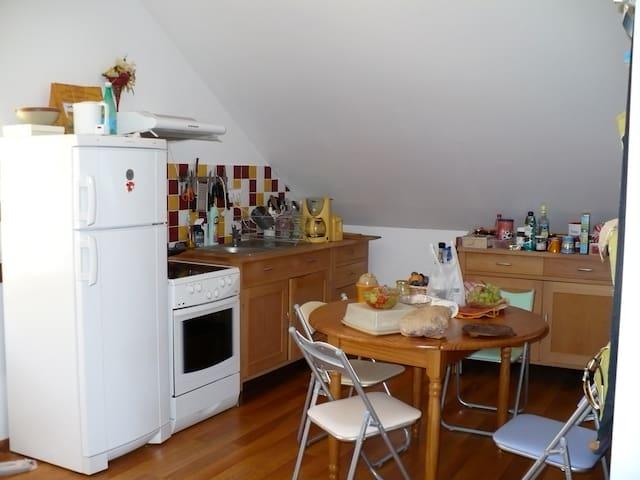 gîte tout confort classé 3 épis à l'étage - Jausiers - Apartment
