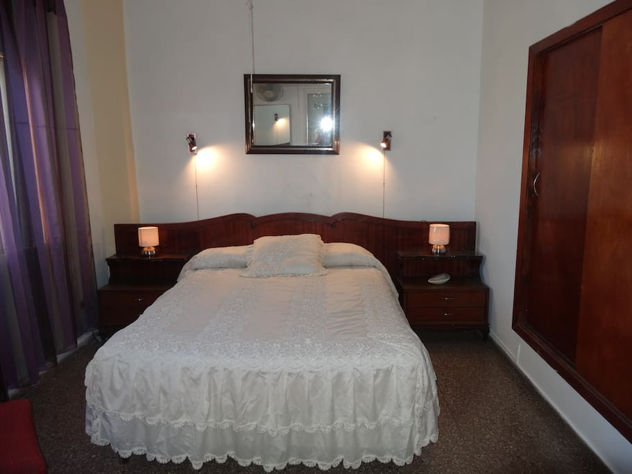 Front view of the bedroom