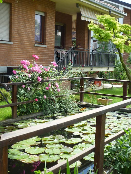 l'appartamento visto dal giardino