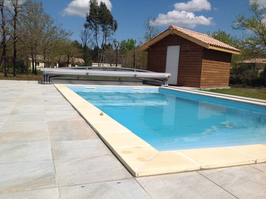 Terrace, pool.