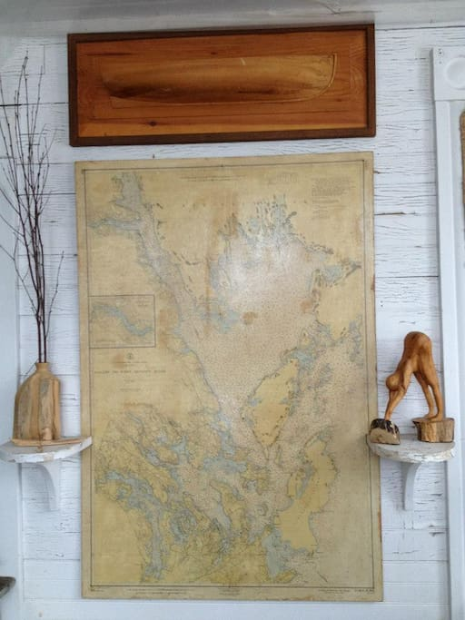 Navigational Chart in the sunroom...just in case you are feeling lost!