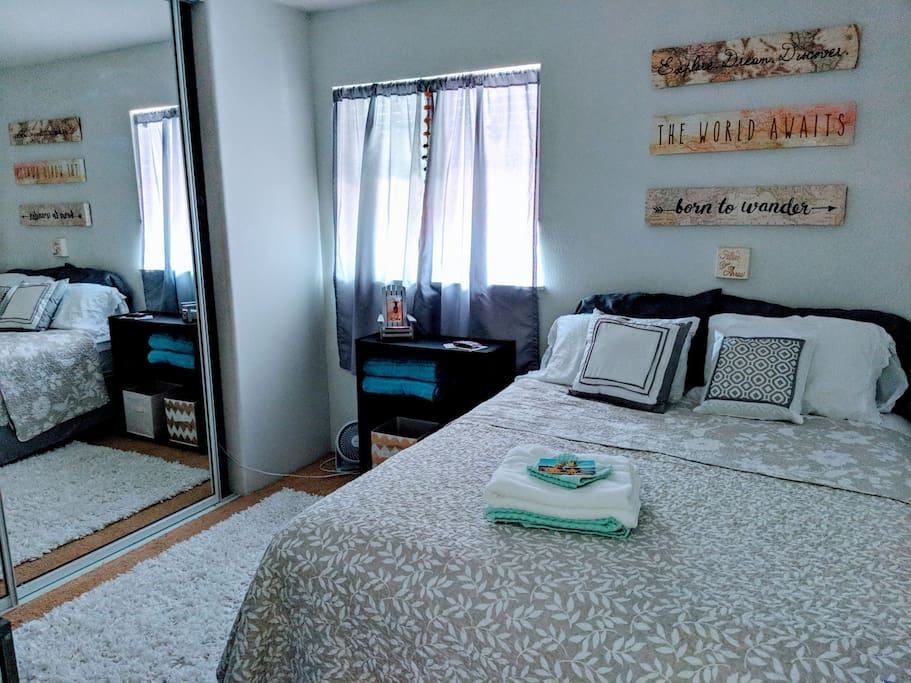Guest room, wifi, new in-room air conditioning option.