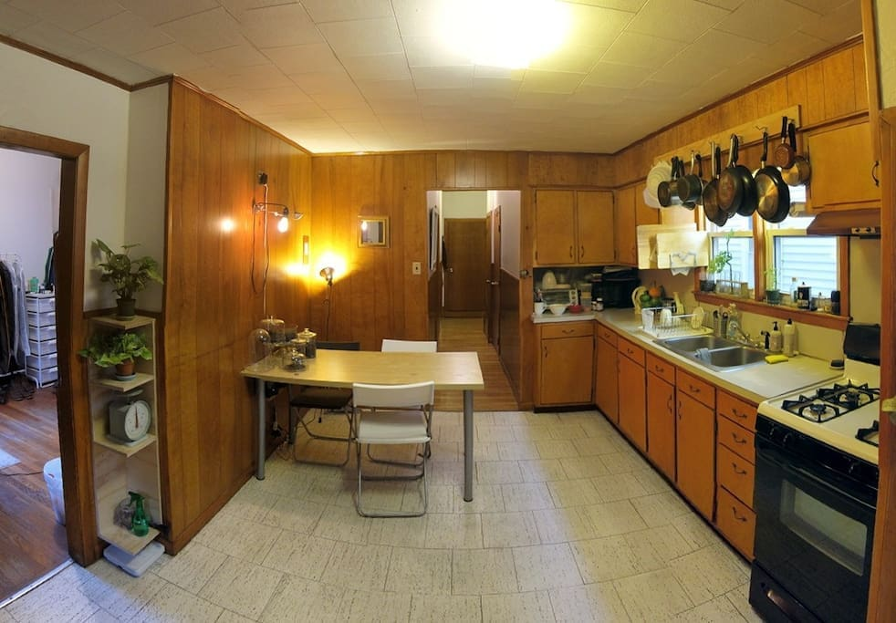Kitchen and hallway