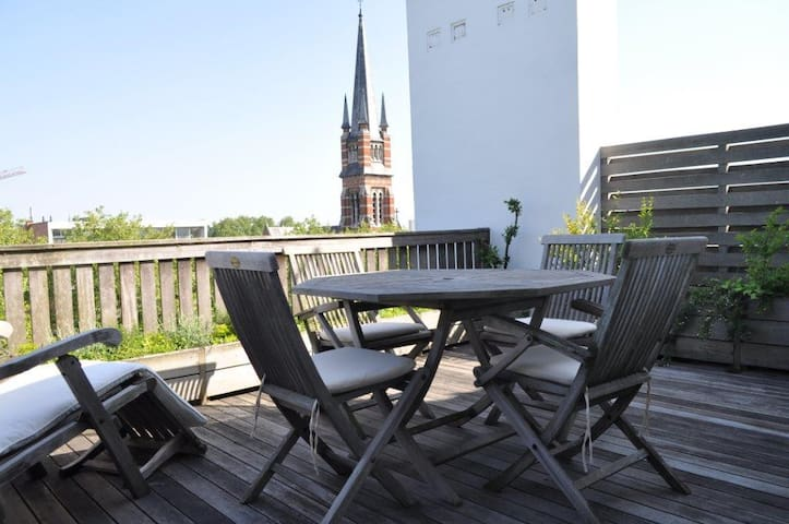 Central apartment with terrace - Antwerpen - Appartement