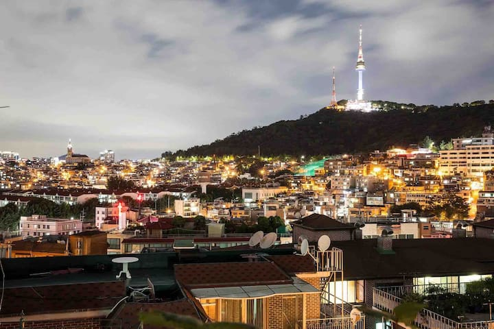 Panoramic namsan view with veranda(near Itaewon)