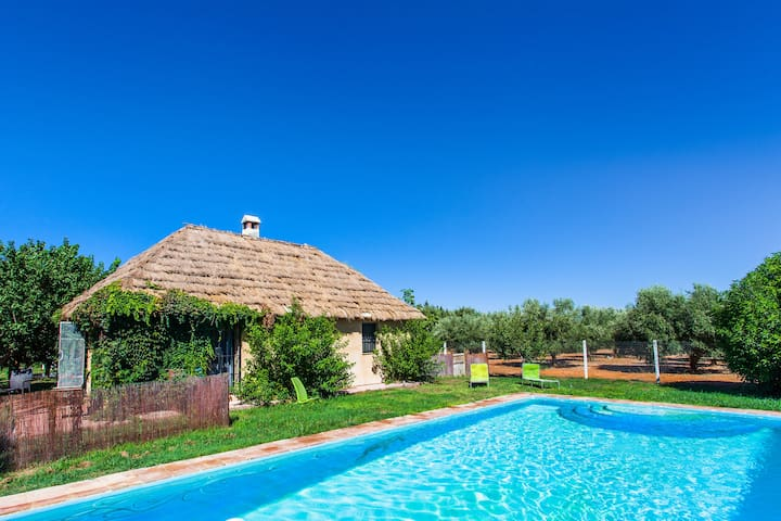 Cottage in garden with pool Cadiz1.