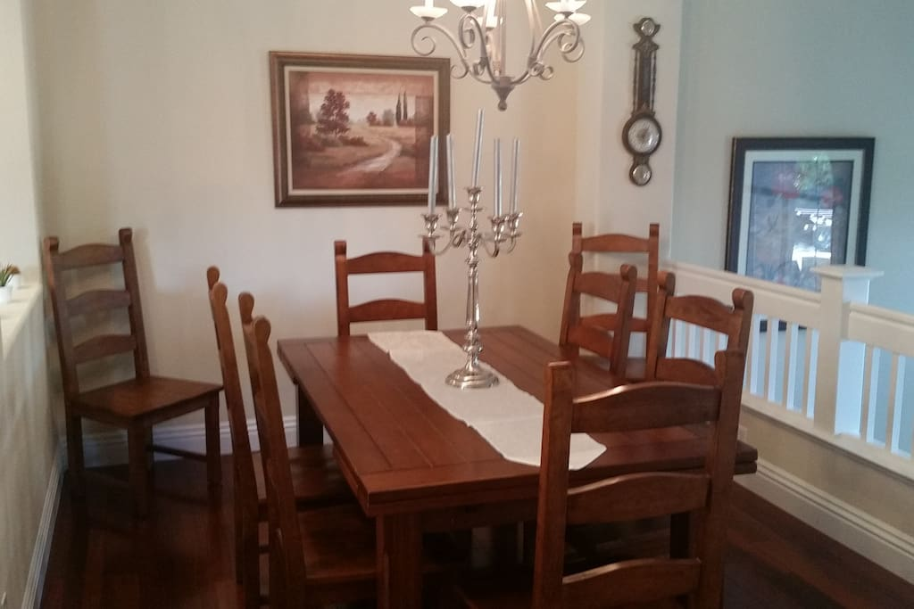 Formal Dining. The table can extend from both sides.
