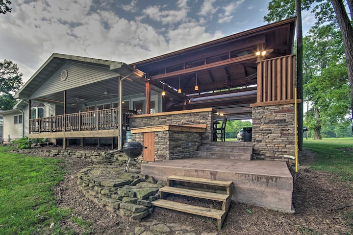 NEW! Anglers' Retreat on White River w/Deck & View