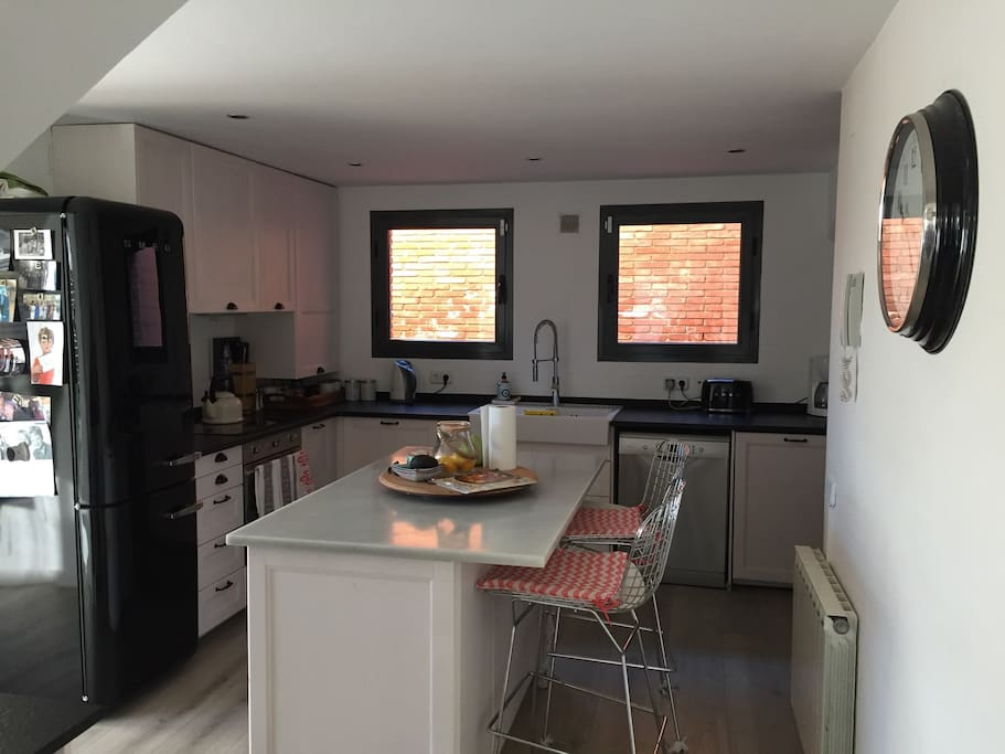 Newly renovated kitchen with Smeg appliances
