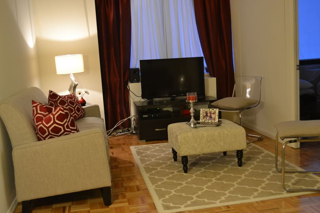 TV and living room is available for limited use.
