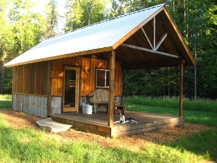 Camping cabin in country setting cabins for rent in for Camp sites with cabins
