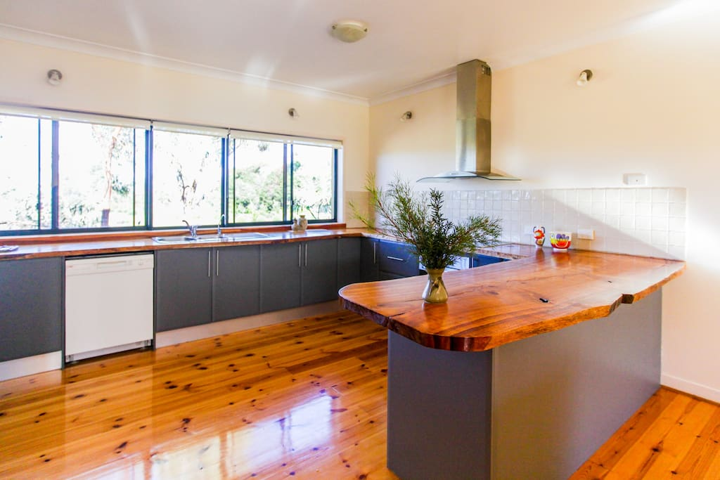 Beautiful, light filled kitchen with magnificent views of the garden