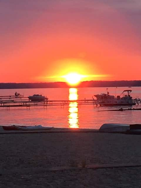 Sandy Sunsets on the Shores of Lake Missaukee